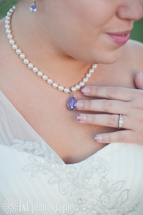 Bride purple details