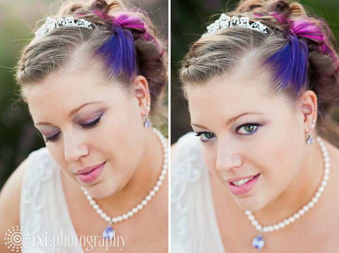 alternative bride purple and pink
