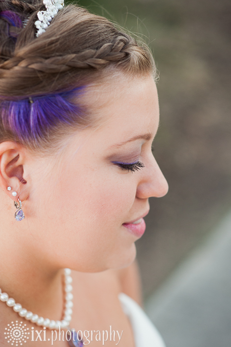 alternative bride purple hair