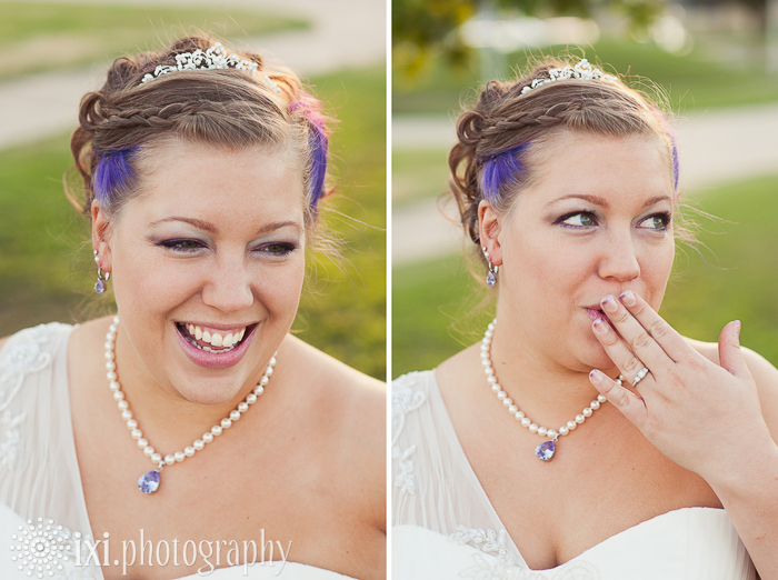 alternative bride tiara and pearls