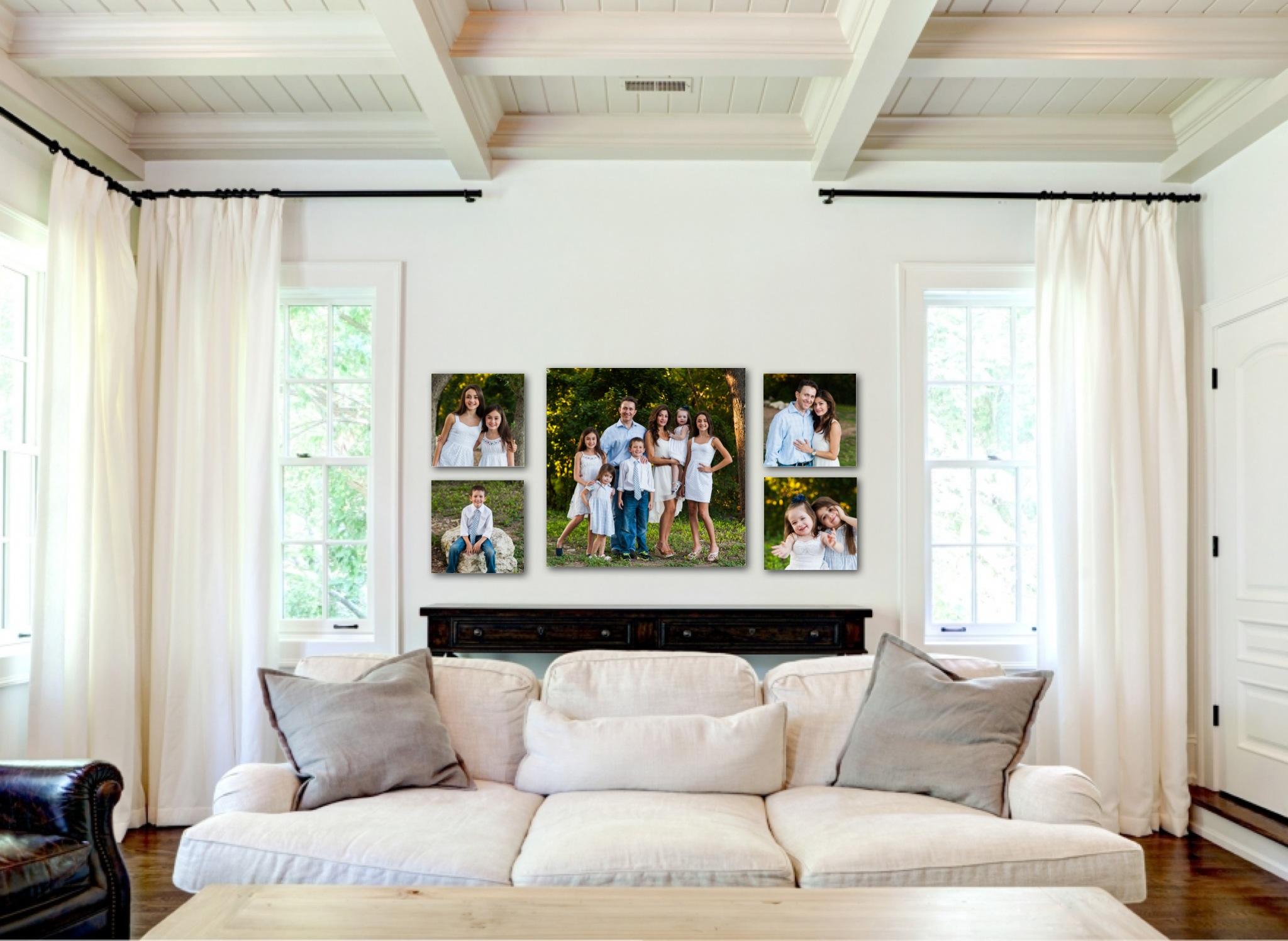 Wall gallery ideas morris family for Picture wall ideas